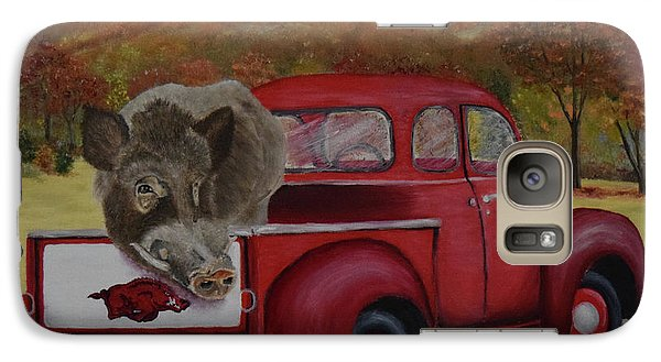 Ridin' With Razorbacks Galaxy S7 Case by Belinda Nagy