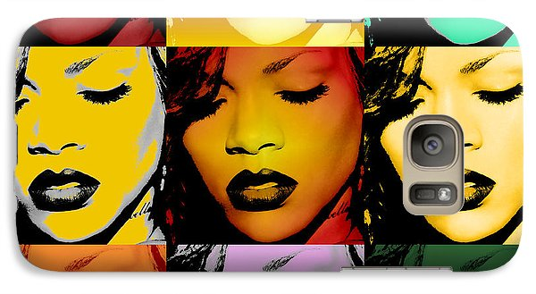 Rihanna Warhol By Gbs Galaxy Case by Anibal Diaz