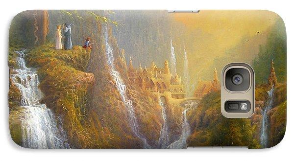 Rivendell Wisdom Of The Elves. Galaxy Case by Joe  Gilronan