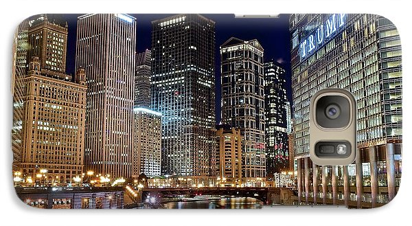 River View Of The Windy City Galaxy S7 Case by Frozen in Time Fine Art Photography