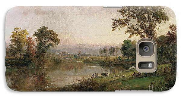 Riverscape In Early Autumn Galaxy Case by Jasper Francis Cropsey