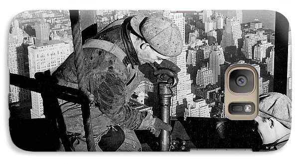 Riveters On The Empire State Building Galaxy S7 Case by LW Hine