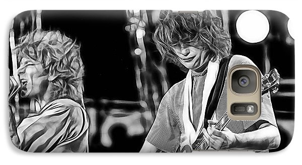 Robert Plant And Jimmy Page Galaxy Case by Marvin Blaine