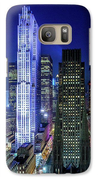 Galaxy Case featuring the photograph Rockefeller At Night by M G Whittingham
