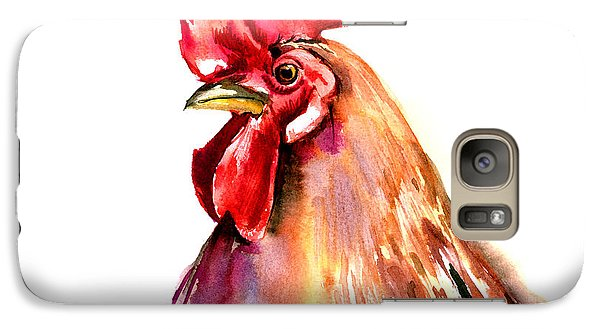 Rooster Portrait Galaxy Case by Suren Nersisyan