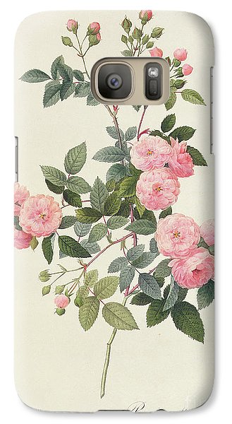 Rosa Multiflora Carnea Galaxy Case by Pierre Joseph Redoute