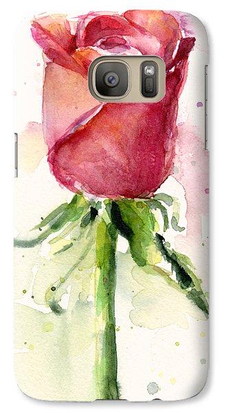 Rose Watercolor Galaxy Case by Olga Shvartsur