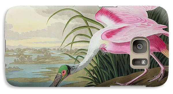 Roseate Spoonbill Galaxy S7 Case by John James Audubon