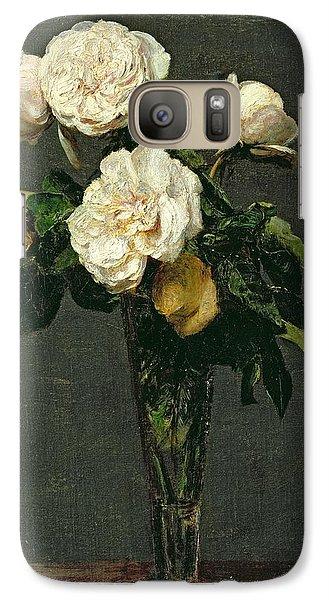 Roses In A Champagne Flute Galaxy Case by Ignace Henri Jean Fantin-Latour