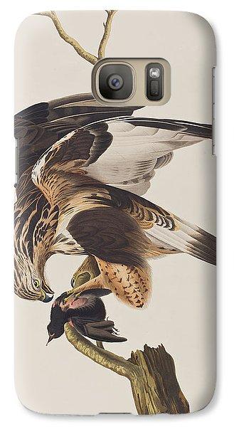 Rough Legged Falcon Galaxy S7 Case by John James Audubon
