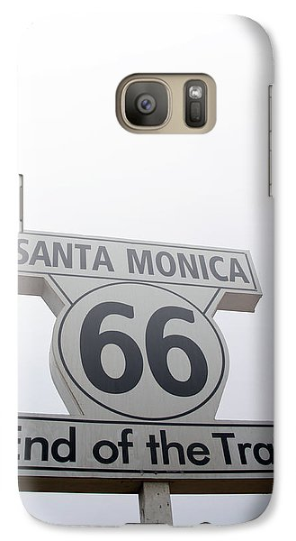 Route 66 Santa Monica- By Linda Woods Galaxy Case by Linda Woods