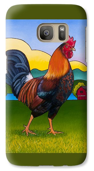 Rufus The Rooster Galaxy Case by Stacey Neumiller