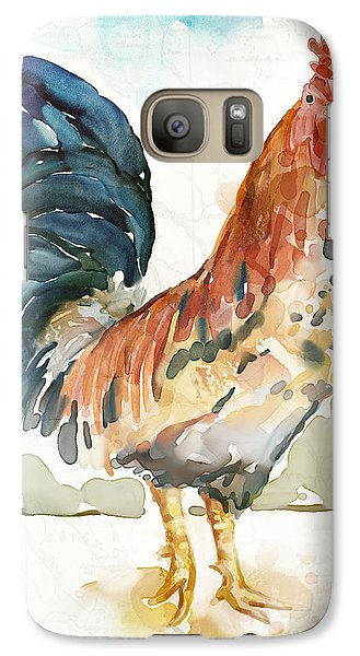 Rust Rooster Galaxy Case by Mauro DeVereaux