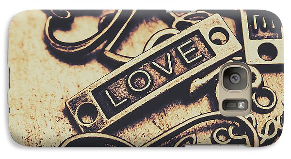 Rustic Love Icons Galaxy Case by Jorgo Photography - Wall Art Gallery