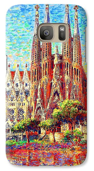 Sagrada Familia Galaxy Case by Jane Small