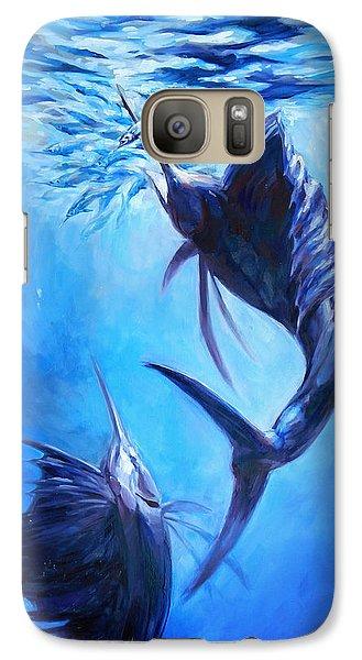 Sailfish And Ballyhoo Galaxy S7 Case by Tom Dauria