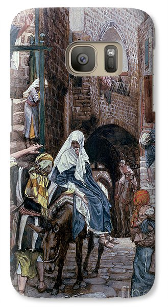 Saint Joseph Seeks Lodging In Bethlehem Galaxy S7 Case by Tissot