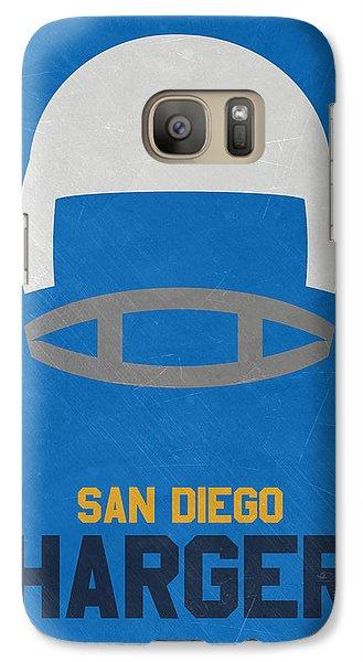 San Diego Chargers Vintage Art Galaxy Case by Joe Hamilton