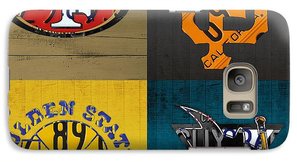 San Francisco Sports Fan Recycled Vintage California License Plate Art 49ers Giants Warriors Sharks Galaxy S7 Case by Design Turnpike