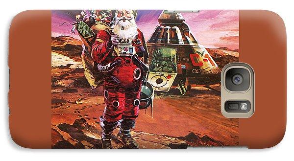 Santa Claus On Mars Galaxy Case by English School
