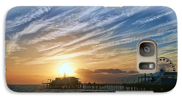 Santa Monica Pier Galaxy Case by Eddie Yerkish