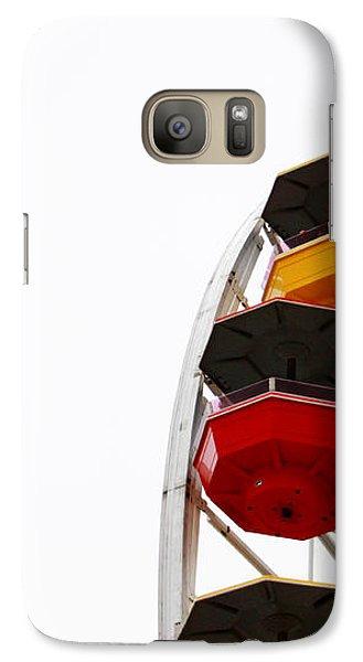 Santa Monica Pier Ferris Wheel- By Linda Woods Galaxy S7 Case by Linda Woods