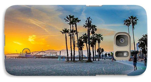 Santa Monica Sunset Galaxy Case by Az Jackson