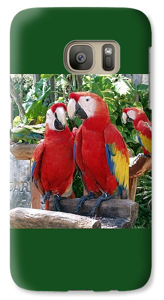 Scarlet Macaws Galaxy Case by Ellen Henneke