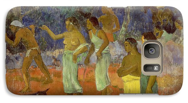 Scene From Tahitian Life Galaxy Case by Paul Gauguin