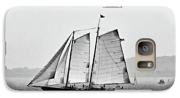 Schooner On New York Harbor No. 3-1 Galaxy Case by Sandy Taylor