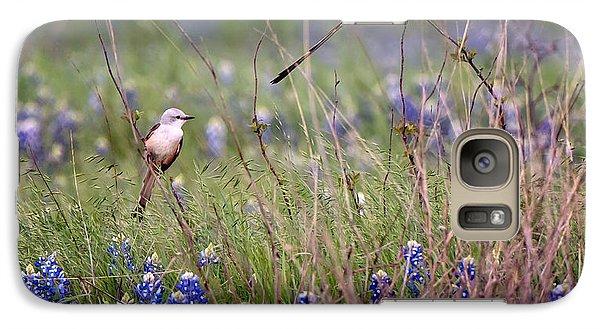 Scissor-tailed Flycatchers Galaxy S7 Case by Cathy Alba