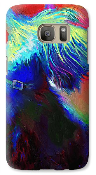 Scottish Terrier Dog Painting Galaxy S7 Case by Svetlana Novikova