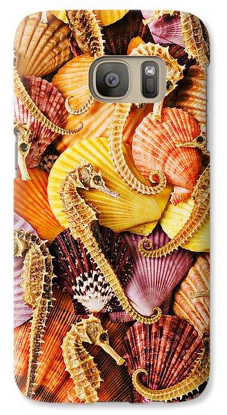Sea Horses And Sea Shells Galaxy Case by Garry Gay