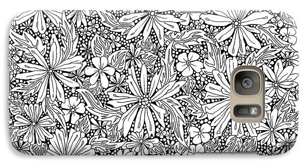 Sea Of Flowers And Seeds At Night Horizontal Galaxy Case by Tamara Kulish