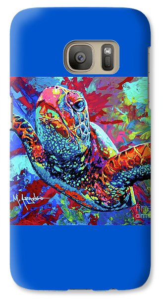 Sea Turtle Galaxy S7 Case by Maria Arango