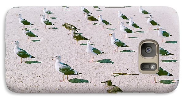 Seagulls  Galaxy Case by Ariane Moshayedi