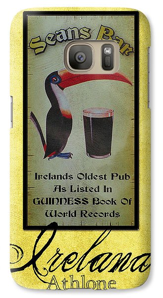 Seans Bar Guinness Pub Sign Athlone Ireland Galaxy S7 Case by Teresa Mucha