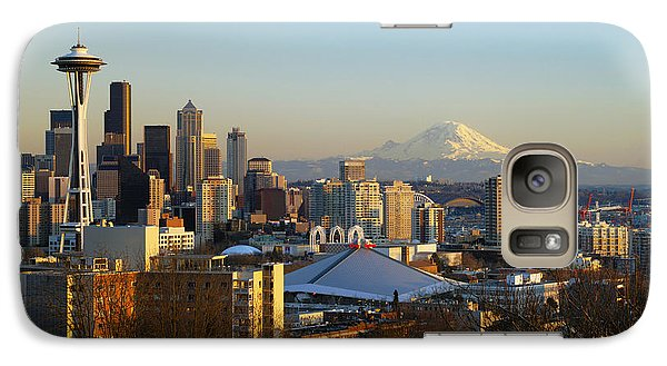 Seattle Cityscape Galaxy S7 Case by Greg Vaughn - Printscapes