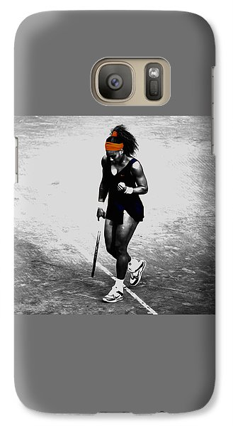 Serena Williams Match Point 3a Galaxy S7 Case by Brian Reaves