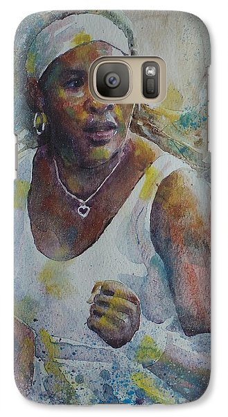 Serena Williams - Portrait 5 Galaxy S7 Case by Baresh Kebar - Kibar