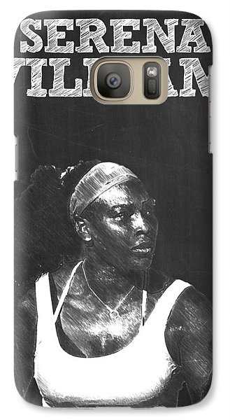 Serena Williams Galaxy S7 Case by Semih Yurdabak