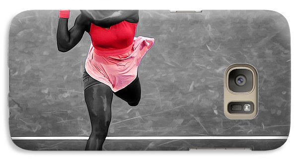 Serena Williams Strong Return Galaxy S7 Case by Brian Reaves
