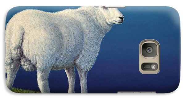 Sheep At The Edge Galaxy S7 Case by James W Johnson