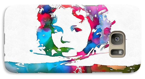Shirley Temple Watercolor Paint Splatter Galaxy S7 Case by Dan Sproul