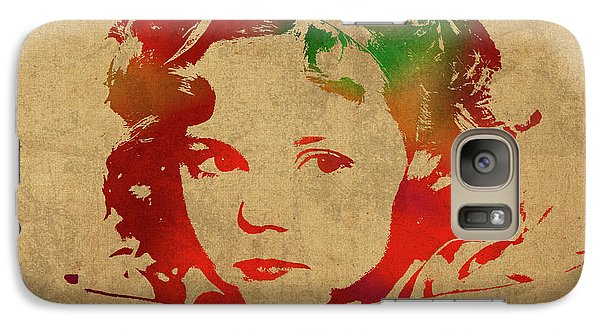 Shirley Temple Watercolor Portrait Galaxy S7 Case by Design Turnpike