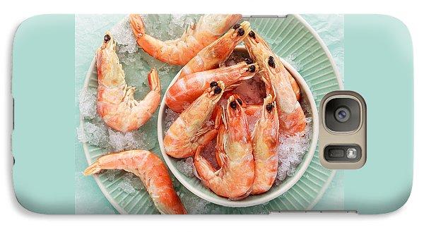 Shrimp On A Plate Galaxy S7 Case by Anfisa Kameneva