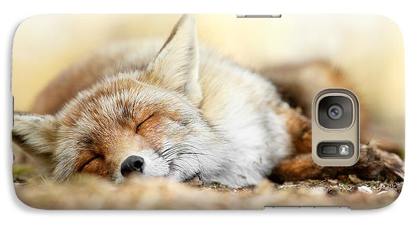 Sleeping Beauty -red Fox In Rest Galaxy Case by Roeselien Raimond