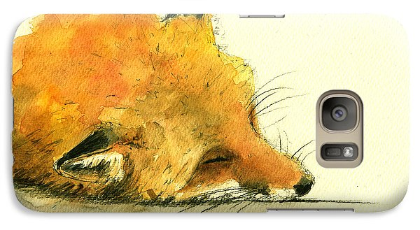 Sleeping Fox Galaxy S7 Case by Juan  Bosco