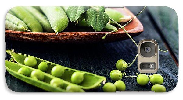 Snow Peas Or Green Peas Still Life Galaxy Case by Vishwanath Bhat
