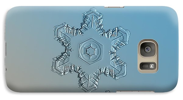 Snowflake Photo - Relief Galaxy Case by Alexey Kljatov